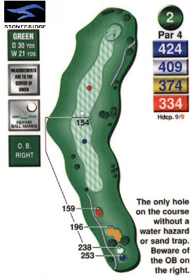 Stonebridge golf course hole 2