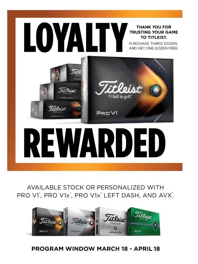 titleist free dozen