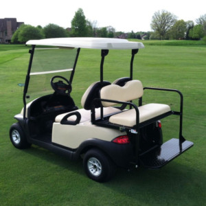used golf carts with rear seats for four