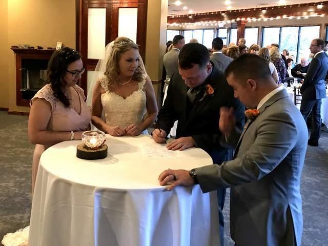 Fall Wedding Reception