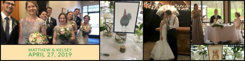Collage of our Ann Arbor Wedding Reception