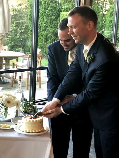 May LGBT wedding in Ann Arbor