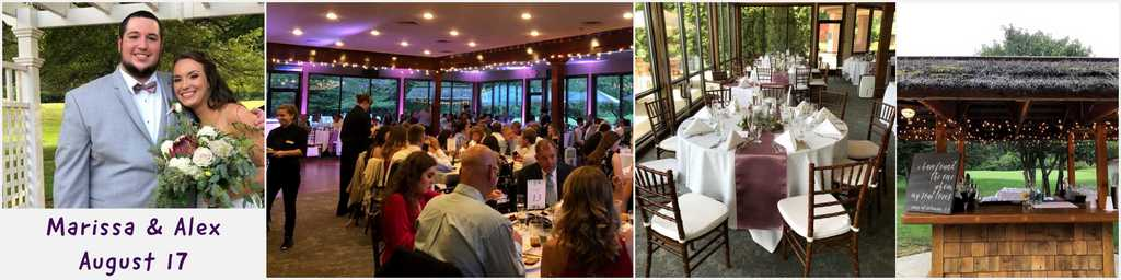 Wedding reception and outdoor ceremony in ann arbor