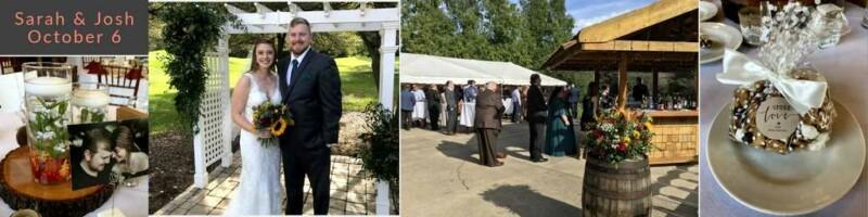 October Wedding Reception in Metro Detroit