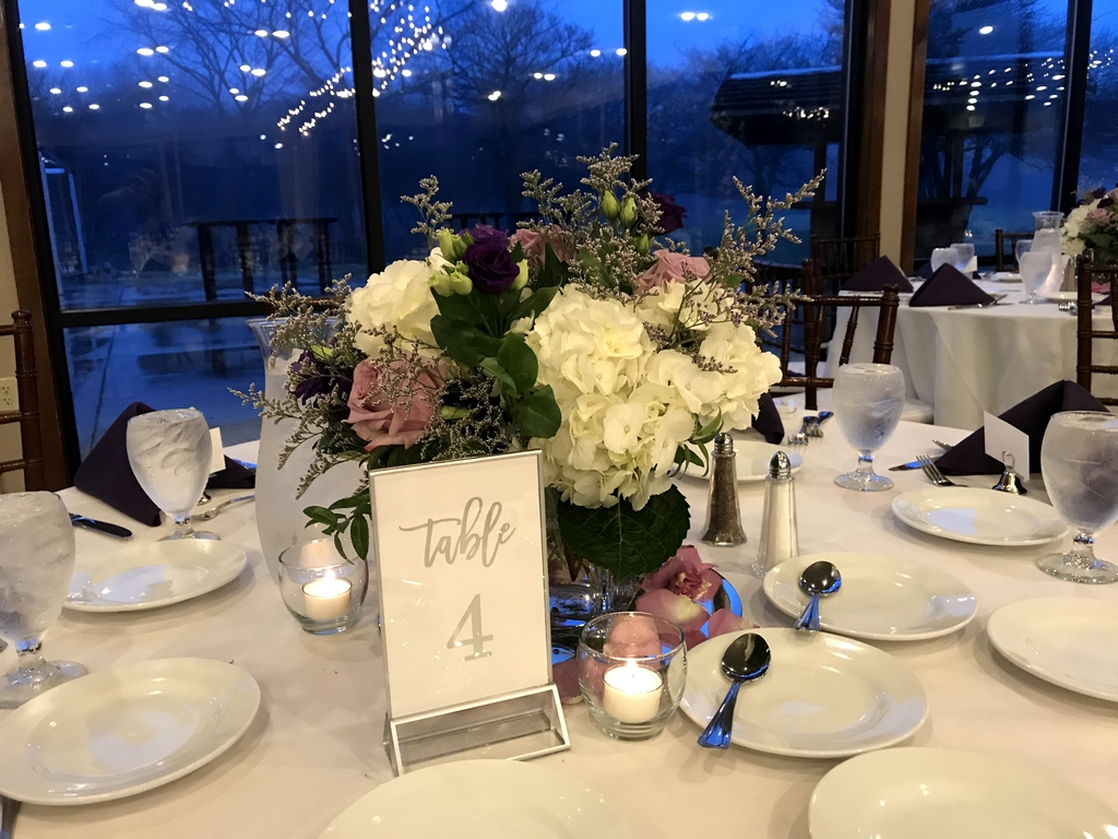winter wedding reception and ceremony in ann arbor